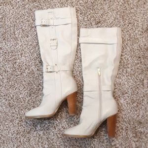 Colin Stuart Ivory Knee High Leather Boots